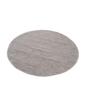 Tapis à poils longs Softly ronde Argent