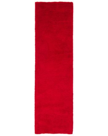 Tapis à poils longs Softly couloir Rouge
