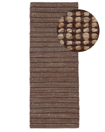 Tapis de Jute Lara couloir Marron