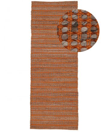 Tapis de Jute Lara couloir Orange