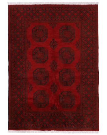 Tapis Afghan Akhche Rouge